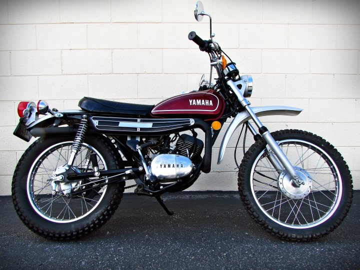 1974 yamaha dt 125 enduro for sale j m motorsports. Black Bedroom Furniture Sets. Home Design Ideas
